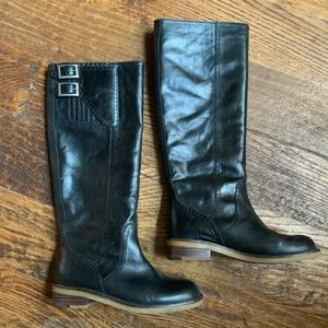Lucky Brand Black Leather Tall Riding Boots